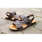 Sandálias Masculino de Couro Envernizado para uso diário e Praia 0807