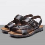 Sandálias Masculino de Couro alta qualidade para uso diário 0813