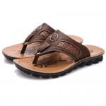 Sandálias Masculino de Couro Pu para uso diário 0802