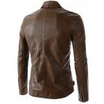 Jaqueta de Couro Pu Masculino e importado Cores Preto e Caramelo Cod 0585