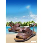Sandálias Masculino de Couro alta qualidade para uso diário 0814