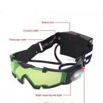 Óculos de vidro para visão noturna com LED ajustável para caça. Com luz flip-out à prova de vento 1279-EL