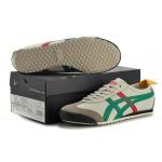 Tênis Asics Unissex Onitsuka Tiger Mexico 66 Cores Bege Verde e Vermelho Cod 0644