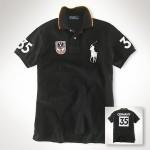 Camisa Polo Preta Alemanha Big Pony Ralph Lauren - Cod 0023