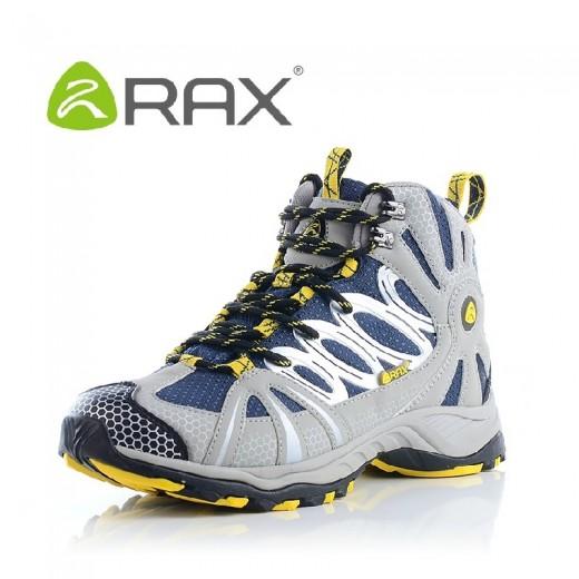 Tênis de caminhada couro cano longo marca Rax antiderrapante  0769