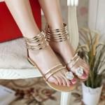 Sandália rasteira material para mulher 2 cores 0827