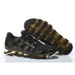 Tênis Masculino Adidas SpringBlade Pro 6 Cor Preto e Dourado 0867