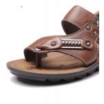 Sandálias Masculino de Couro para uso diário 0809