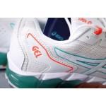 Tênis Asics Gel modelo Masculino cores Branco com detalhes azul e rosa - 1282-EL