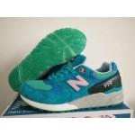Tênis New Balance NB 999 Masculino e Feminino Cor Azul Celeste Detalhes Verde e Preto