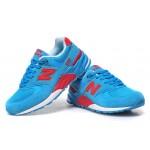 Tênis New Balance NB 999 Feminino Cor Azul Claro Com Detalhes Vermelho
