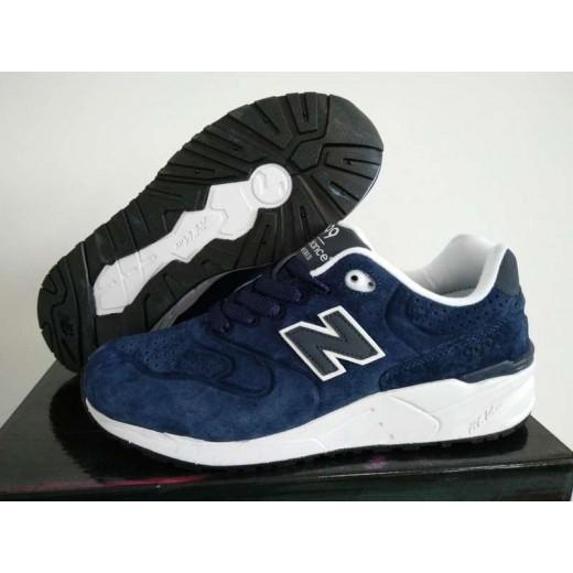 996643d189c Tênis New Balance NB 999 Masculino e Feminino Cor Azul Escuro Com detalhes  em Branco