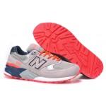 Tênis New Balance NB 999 Masculino e Feminino Cor Beje com detalhes Rosa e Azul