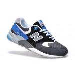Tênis New Balance NB 999 Masculino e Feminino Cor Cinza com Detalhes Preto e Azul