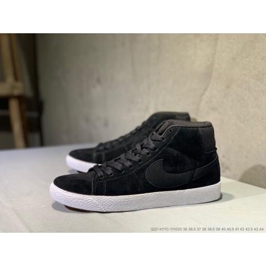 Tenis cano longo Nike modelo Sb zoom Blazer unissex cor preta 1301-EL