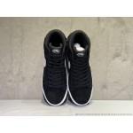 Tenis cano longo Nike modelo Sb zoom Blazer unissex cor preto com detalhes branco 1303-EL