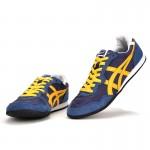 Tênis Unissex asics modelo Serrano cor azul com amarelo 1342-EL