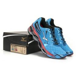 14d94b803a9 Tênis Mizuno Azul e Vermelho Wave Prophecy 2 - Cod 0185