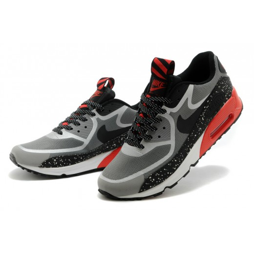 941920dd63 Tenis Nike Unissex Air Max 90 Premium Tape Vermelho Cinza e Preto 0760