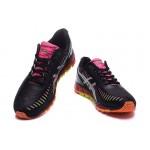 Tênis asics gel quantum 360 feminino cor preto rosa e laranja
