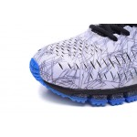 Tênis asics gel quantum 360 masculino cor cinza claro e azul