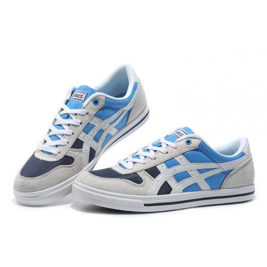 Tenis masculino asics onitsuka aaron cores Branco e Azul