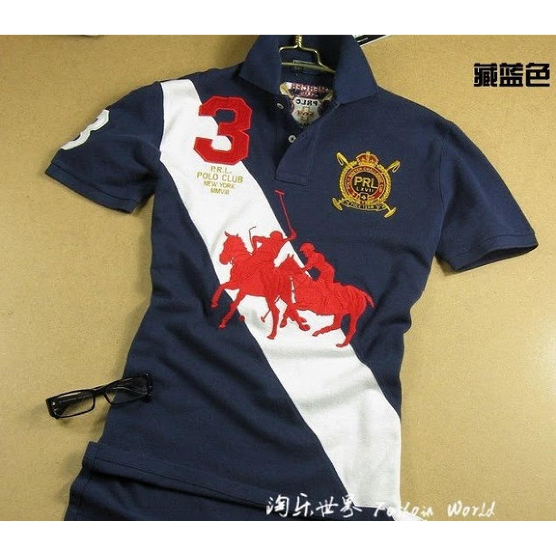 Camisa Polo Azul Escuro Dual Match Ralph Lauren - Cod 0084 4a51ae33324