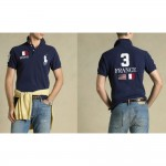 Camisa Polo Azul Escuro Franca Ralph Lauren - Cod 0038