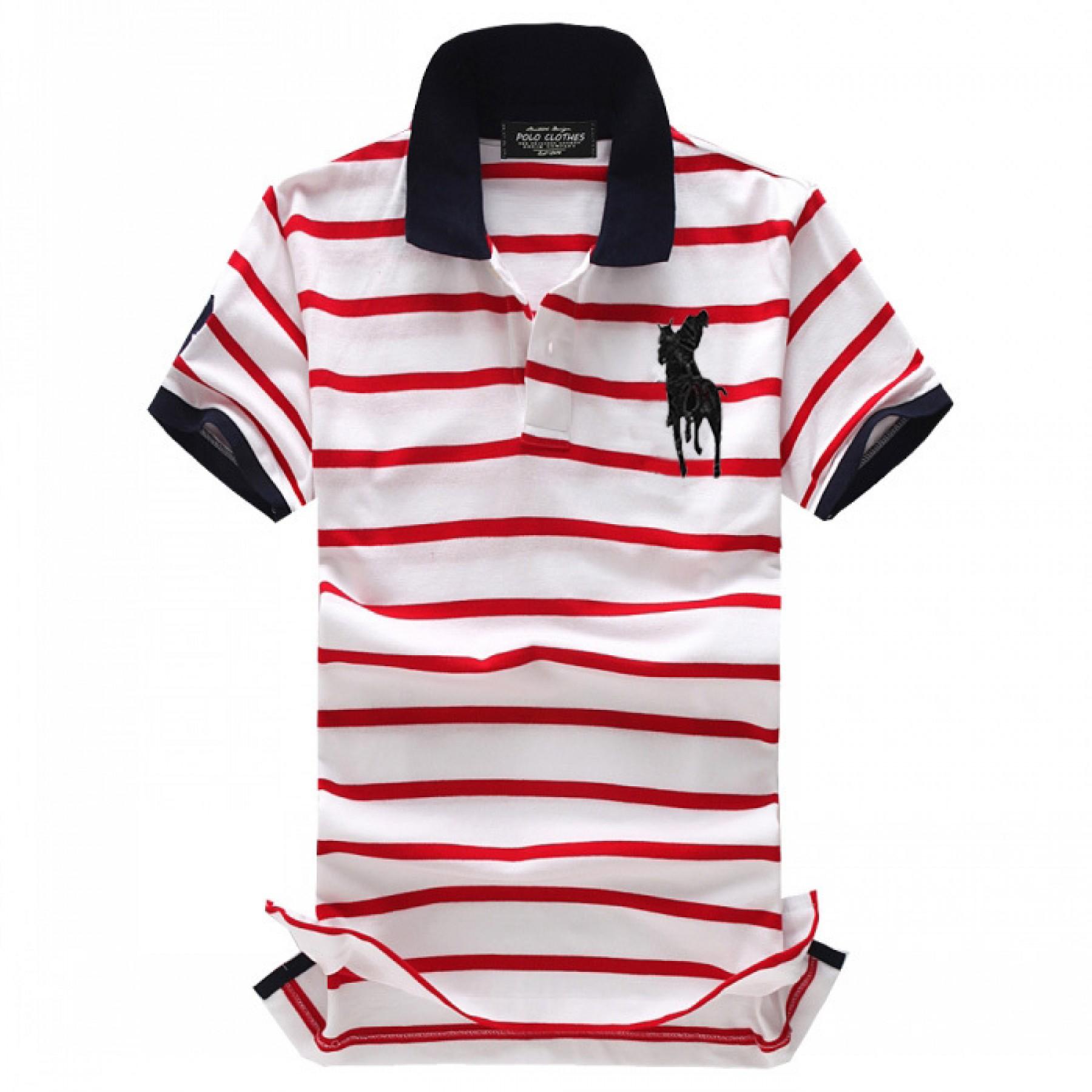 e53b36a3ae Camisa Polo Masculino Ralph Lauren com Listas Cod 0517