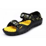 Sandálias de couro para praia para homem e antiderrapante com letras 0798