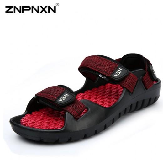 Sandálias de couro para praia para homem e antiderrapante 0791