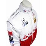Top jaquetas esportivas estilo racing logo santander e bordada para homens Cod 0630